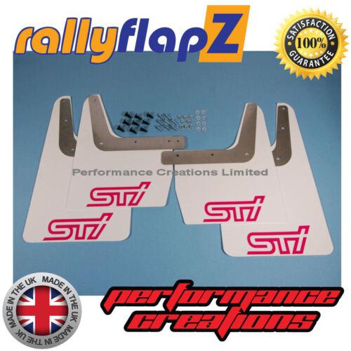 GC8 RallyflapZ 4 mm PVC Blanco Sti Rosa Mudflaps SUBARU IMPREZA Clásico 93-01
