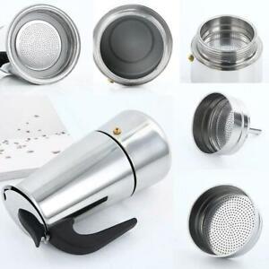 4/6/9 Cup Coffee Maker Moka Percolator Stove Top Espresso Latte Stainless Pot