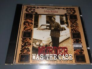 CD-SNOOP-DOGG-Murder-Was-The-Case-1994-Death-Row-Records-Rare-OG-Press