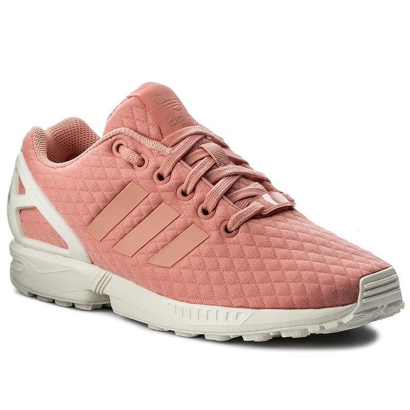Adidas ZX Flux W by9213 señora caminar caminar caminar cortos zapatillas deporte Peach naranja Nuevo  Ahorre hasta un 70% de descuento.