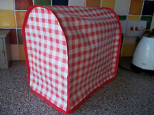KitchenAid & Kenwood kMix Food Mixer Cover in red gingham vinyl with red edging
