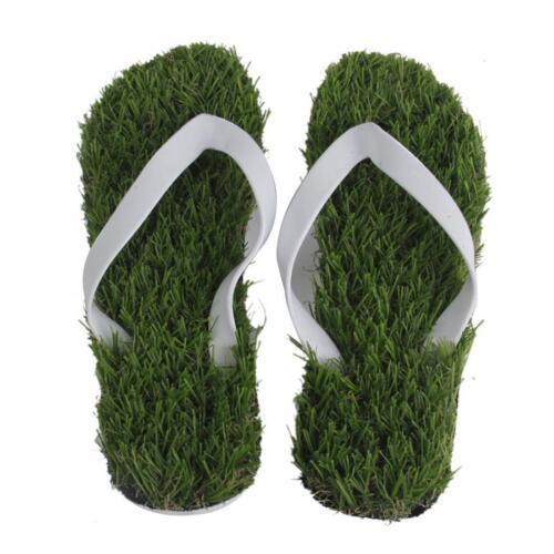 Summer Slippers Coolness Stapler Artificial Grass Flats Beach Sandals Footwear