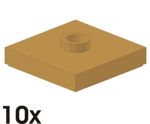 10 PEZZI NUOVO 2x2 piastrelle con 1 camma dunkeltan/scuro Beige 4578032 (87580) 459