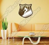 Downhill Mountain Ski Trail Winter Sport Wall Sticker Interior Decor 20x25