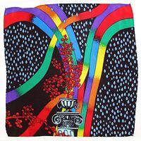 100% Silk Mens Pocket Square Hanky Rush Limbaugh No Boundaries Rainbow Black
