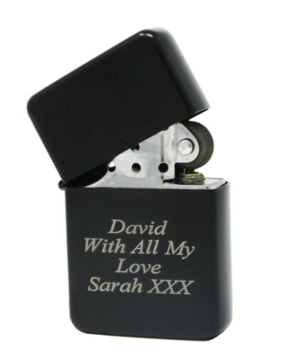 Personalised Engraved Gift Lighter Anniversary Birthday Present With Gift Box
