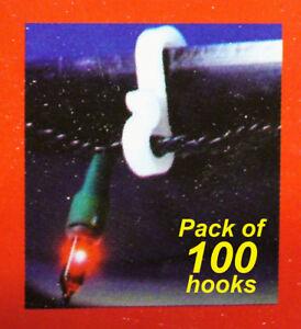 100 Pack Gutter Hooks Clips for Christmas Fairy Lights