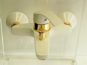 Rubinetteria vasca da bagno grohe eurosmart bianco oro carati