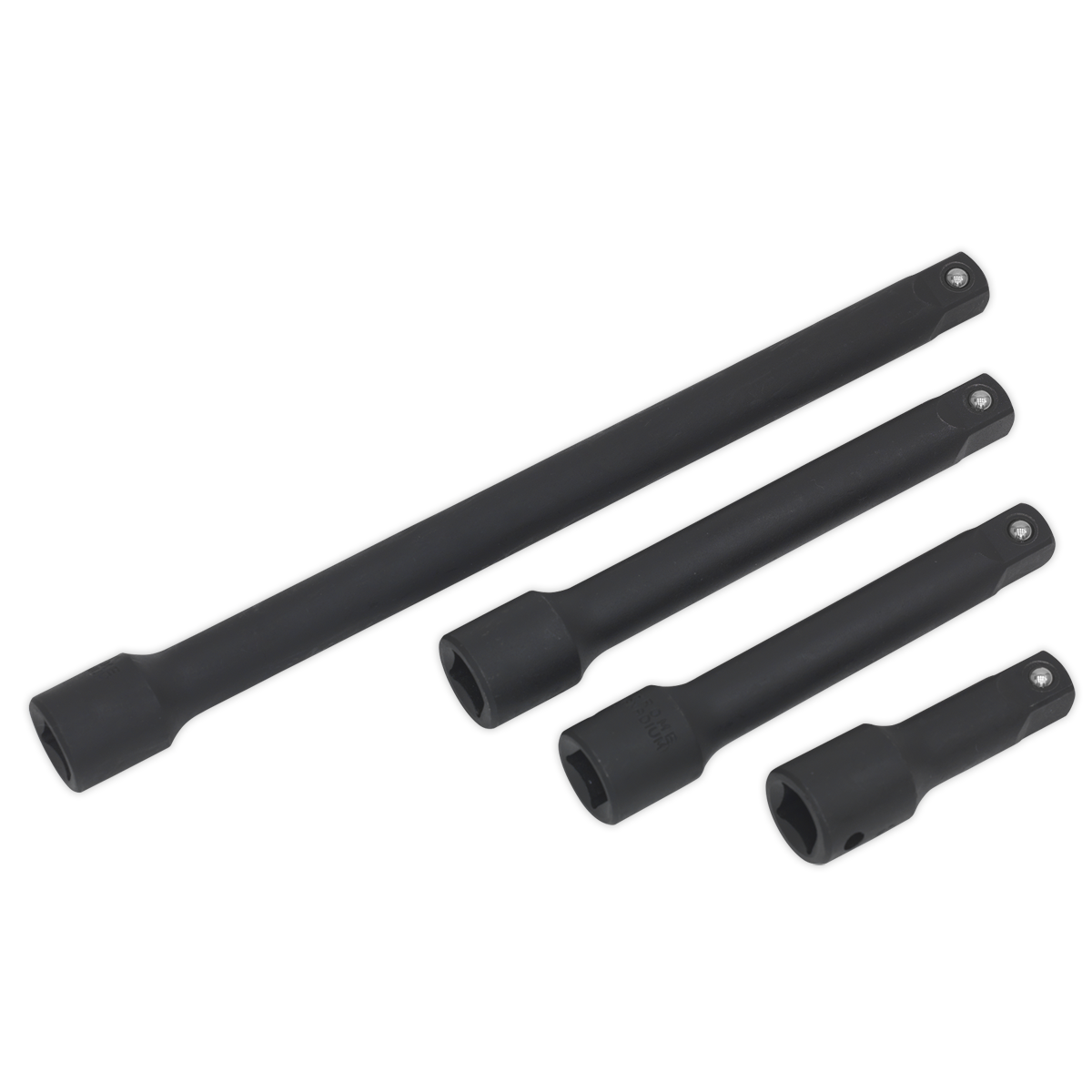 Impact Extension Bar Set 4pc 1 2 Sq Drive Sealey AK5513 by Sealey