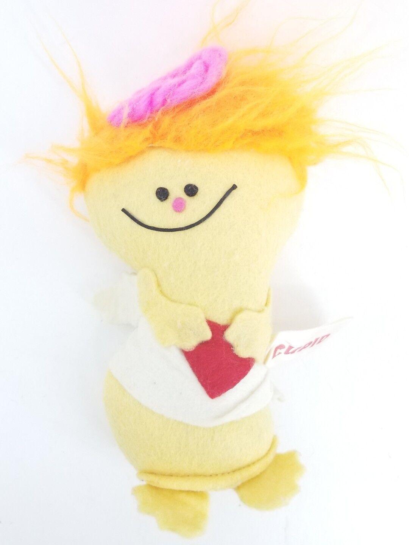 Vintage 1975 RUSS BERRIE Cupid Angel Stuffed Animal Doll Plush Felt Toy USA Sand