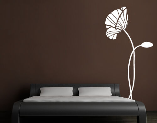 Wall Tattoo Poppy Flower Floral Poppy wal045