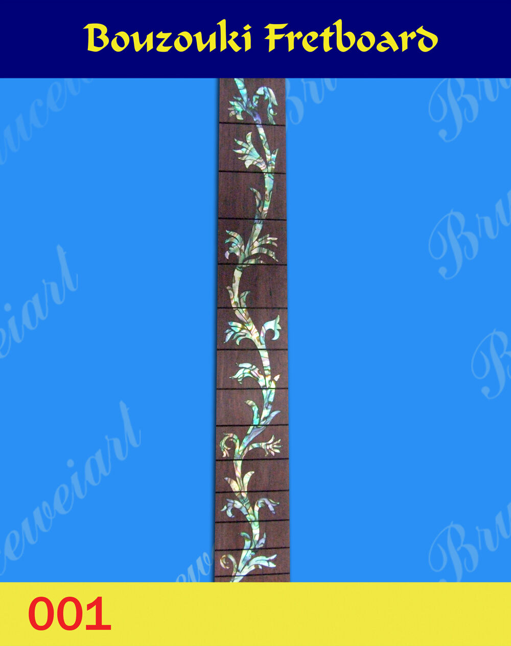 Envío Gratis, diapasón con incrustaciones Abalone buzuki buzuki buzuki Ranurado (BZF-001) dbf24e