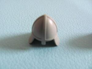 1x Lego 3844 Minifig dark gray Headgear Helmet Castle with Neck Protector