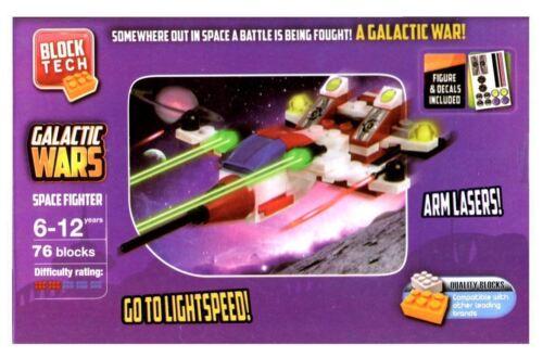 Block Tech Galactic Wars Space Fighter 76 Building Blocks Kids Creativ Activity