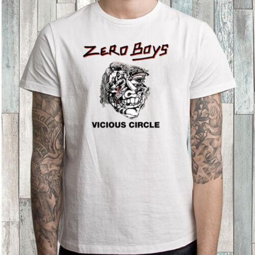 Zero Boys Vicious Circle Punk Band Men/'s White T-Shirt Size S M L XL 2XL 3XL