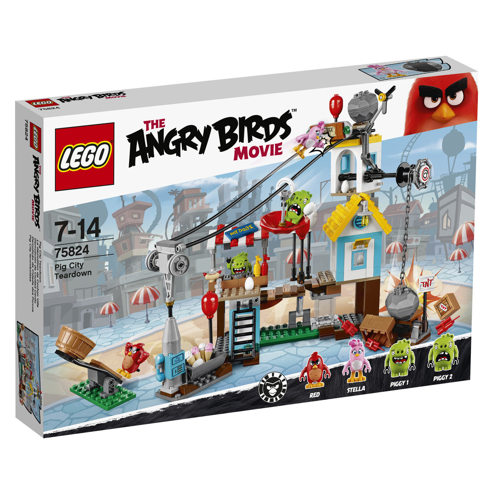 LEGO ® the Angry Birds ™ Movie 75824 Pig città  Teardown NUOVO OVP nuovo MISB NRFB  risposta prima volta
