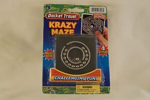 Details about Pocket Travel Game KRAZY MAZE Problem Solving Ball Bearing  Kids Toy Age 4+ Adult