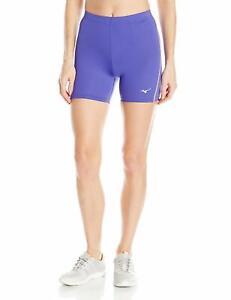 Mizuno-Running-Women-039-s-Core-Mid-Tights-Small-Purple-Orange-Popsicle