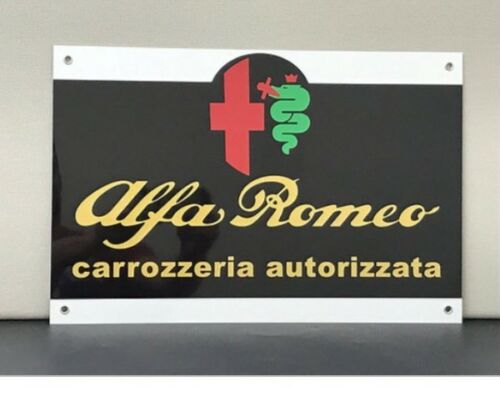 Rare Alfa Romeo Autorizzata Vintage Reproduction Garage Sign