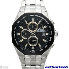 acQuatech MEGGIO Collection Chronograph Date Watch, MCIPBK, Stainless Steel, Men