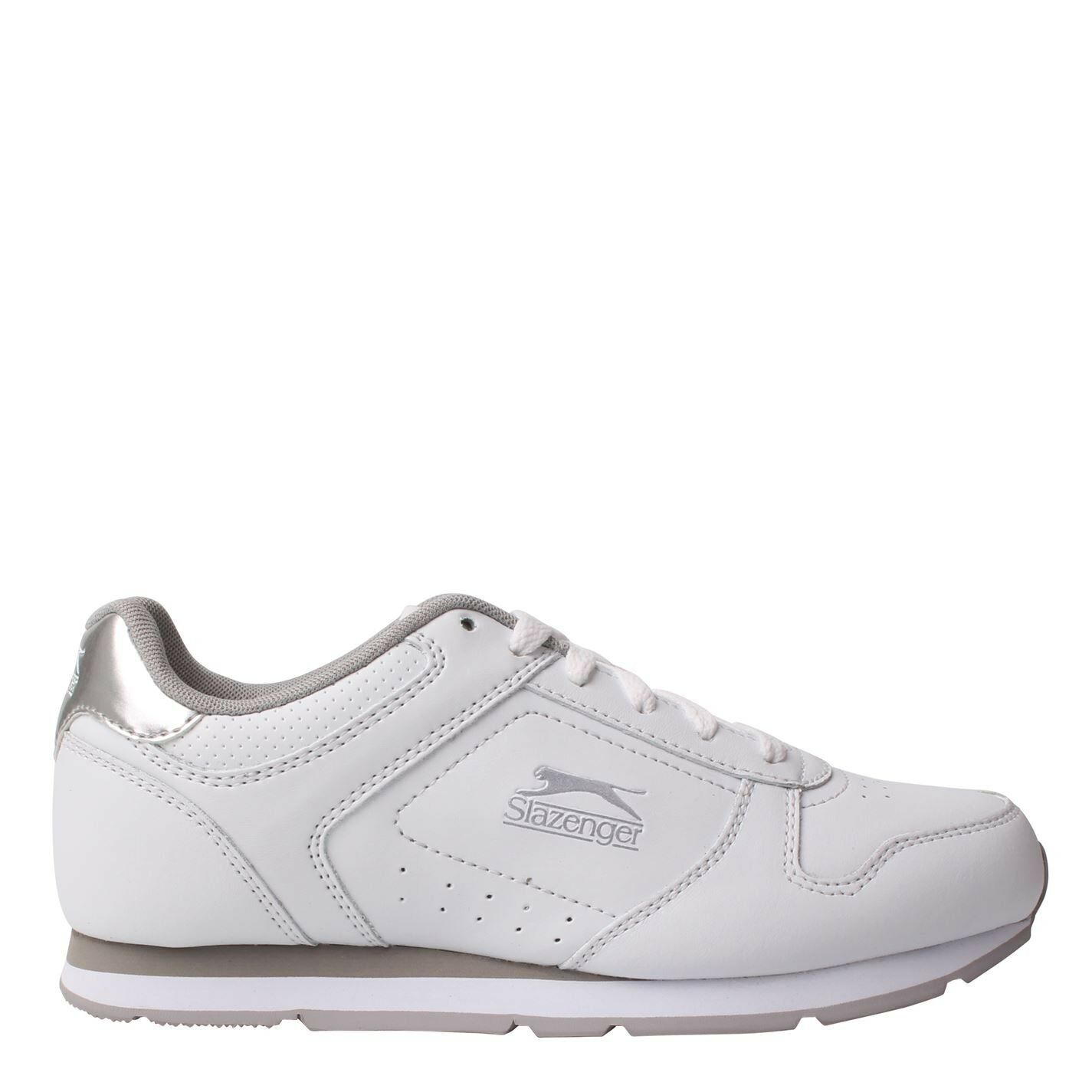 Slazenger Womens Classic Trainers Sports Shoes Lace Up Tongue Everyday