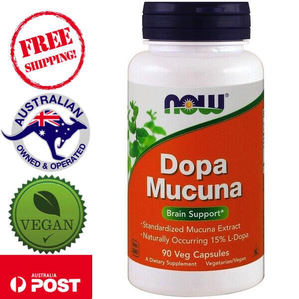 Now Foods Vegan Dopa Mucuna 90 Veggie Caps for libido, Brain Support, motivation