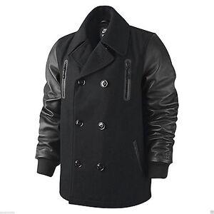 3eaaad4f67a06 Nike Men s LeBron Varsity Peacoat Leather Sleeve Jacket Destroyer ...