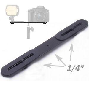 Universal-Dual-Flash-Hot-Shoe-Bracket-One-to-Two-Switcher-1-4-034-Metal-Holder-Bar