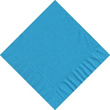 50 Plain Solid Colors Luncheon Dinner Napkins Paper - Turquoise
