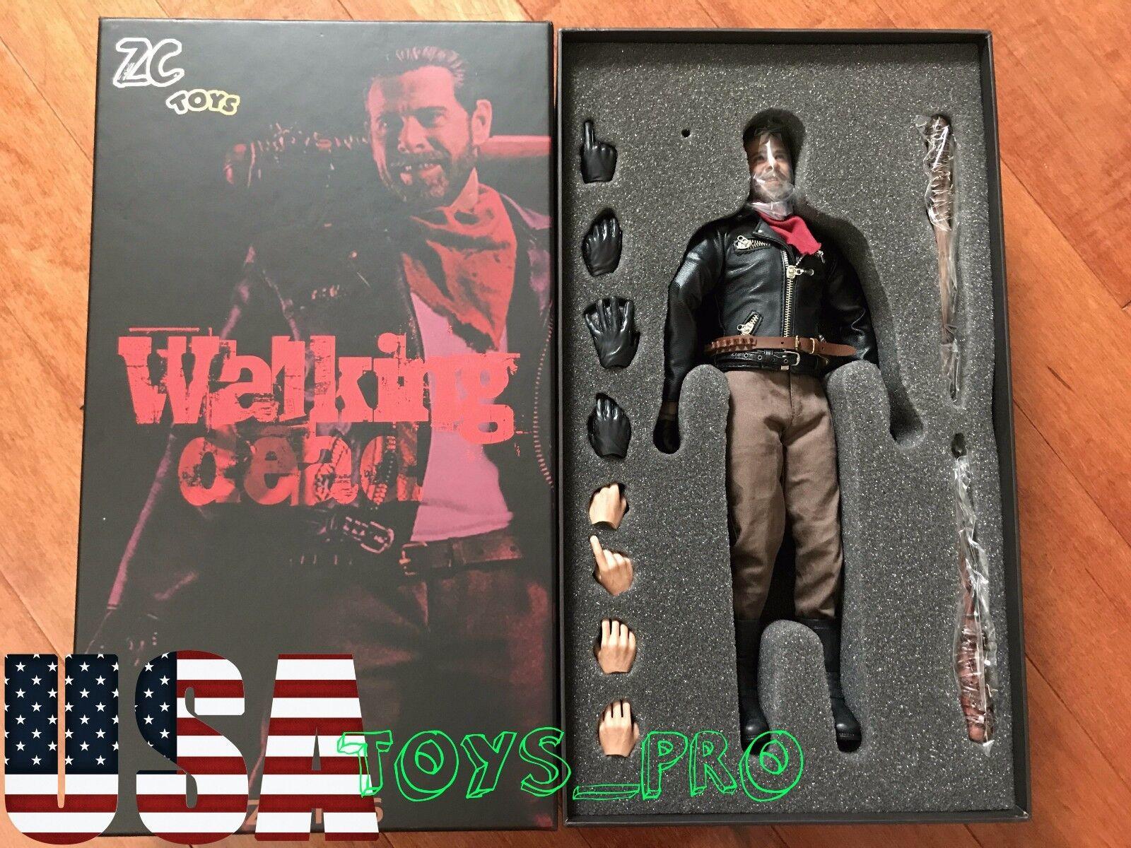 1 6 NEGAN Jeffrey Dean The Walking Dead Figure Full Set with Lucille ❶USA❶