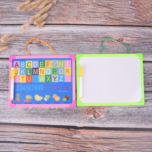 kid whiteboard dry wipe board mini drawing small hanging board with marker pen W