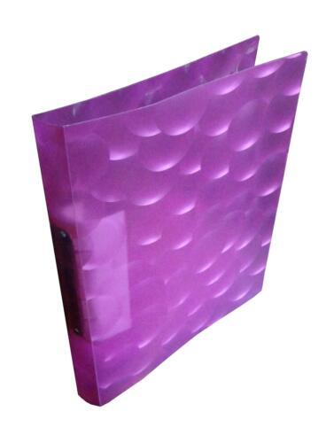 A4 transluzent pink Rücken aus PP 4x Ringbuch 30mm 2-Ring-Mechanik