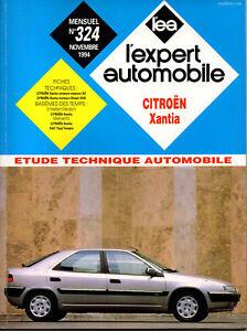 Rta Revue Technique Automobile N° 324 Citroen Xantia Xu Xud Essence Diesel Couleurs Harmonieuses