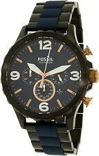 Fossil Men's Nate JR1494 Black Stainless-Steel Quartz Dress Watch