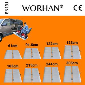 Worhan® Aluminio Carga Silla Detalles Movilidad De Rampa Ruedas Plegable Discapacitado OuPkZXi