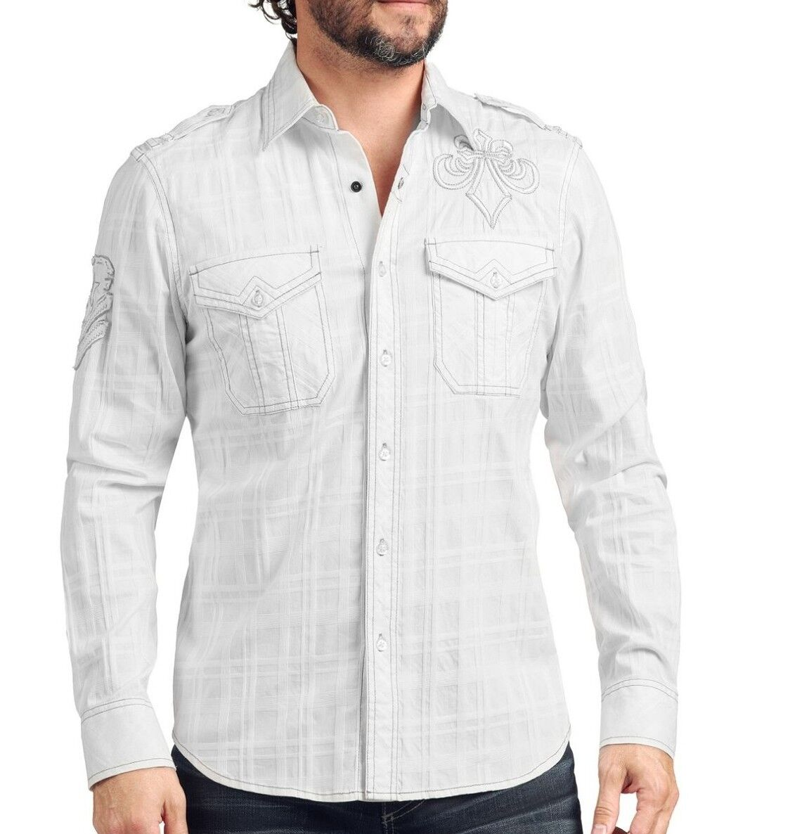 New Affliction Cold Torch Button Down Shirt  NWT FREE SHIPPING