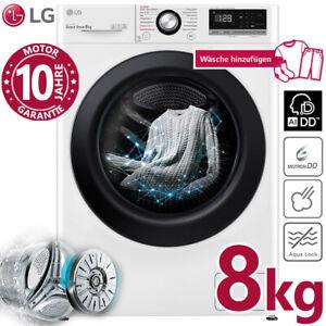 LG Waschmaschine Frontlader Dampf Direktantrieb 8 kg Inverter 1400 U/min AIDD