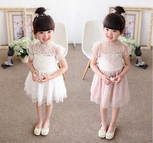 Toddler-Kids-Baby-Girls-Princess-Dress-Party-Pageant-Wedding-Tulle-Tutu-Dresses