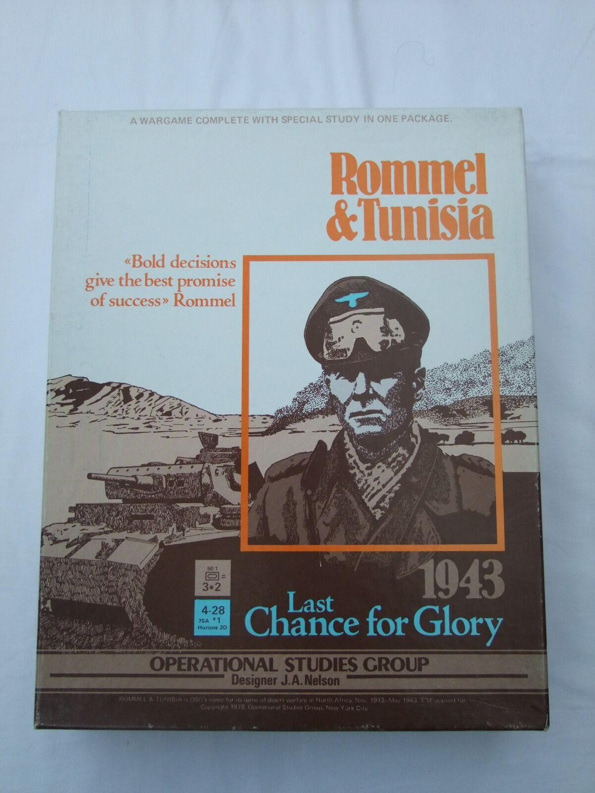 Rommel & Túnez última oportunidad para la gloria 1943 por OSG no 902 mesa warJuego 1978