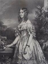 DUCHESSE DE NEMOURS , VICTOIRE AUGUSTE ANTOINETTE . (1822-1857). Portrait , 1870