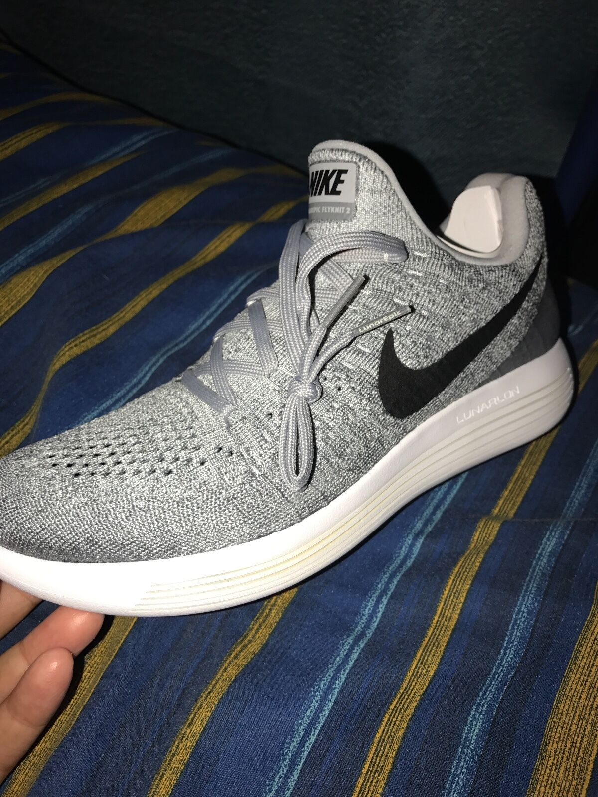 1ed7e03bada50 Women s Nike LunarEpic Low Flyknit 2 Wolf Grey Black Grey Platinum 863780  002