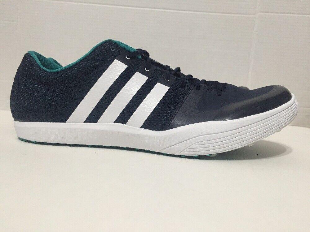 Adidas AdiZero Long Jump Track Track Track Spikes Navy vit AF5648 herr Storlek 11.5  trendig