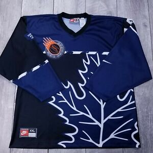 Vintage-Nike-Team-NHL-Street-Toronto-Maple-Leafs-Hockey-Jersey-Mens-XXL-2XL-LS11