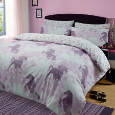 Kids Unicorn Dreams Duvet Cover with Pillow Case Girls Bedding Set Mystical Pink