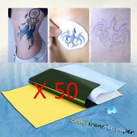 50 Sheets Tattoo Transfer Carbon Paper Supply Tracing Copy Body Stencil A4