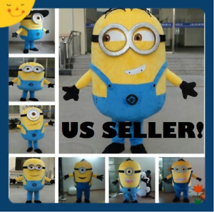 Adult-Size-Minions-Despicable-Me-Mascot-Costume-Halloween-Cosplay-New-US-SELLER