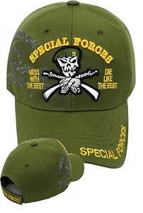 59c9818e6 Details about US Army SPECIAL FORCES Ball Cap Olive Ranger Airborne Beret  SHADOW Hat OD Green