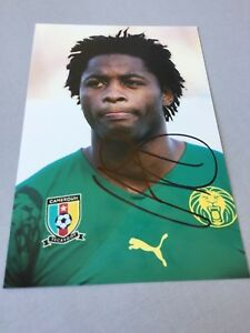 ALEX-SONG-Kamerun-Fussball-In-person-signed-Foto-10-x-15-Autogramm