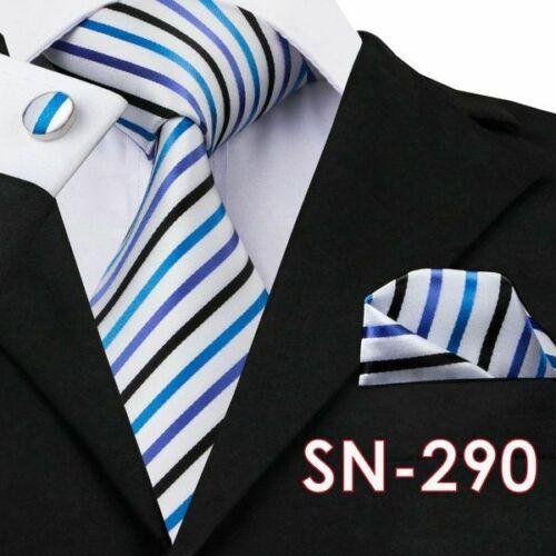 Men/'s Tie Hanky Cufflink Sets Gravata Silk Neckties Business Wedding Party Adult