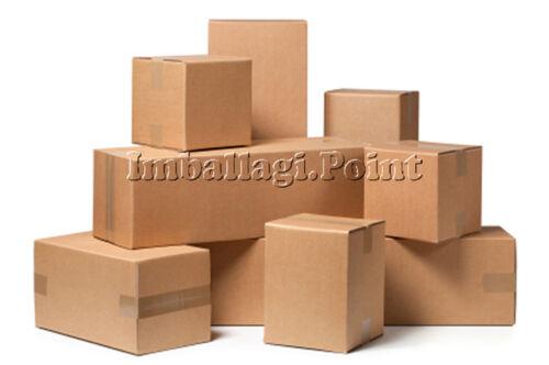5 pezzi SCATOLA DI CARTONE imballaggio spedizioni 40x27x20cm  scatolone avana